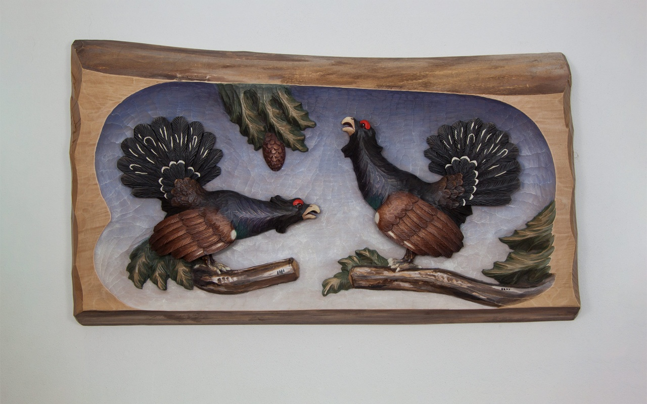 Relief with 2 western capercaillie